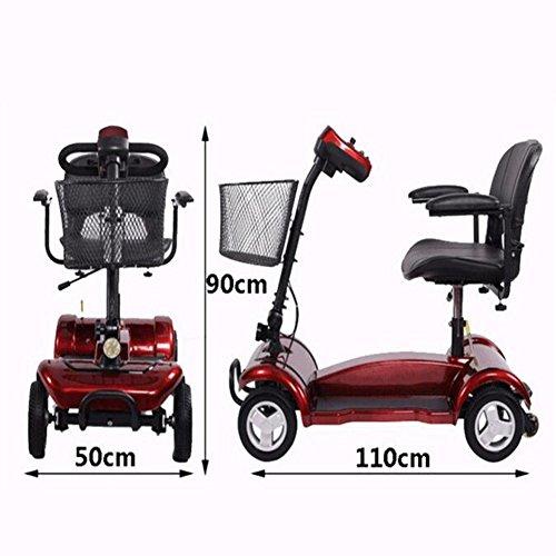 Scooter Cww Plegable Avanzada Ancianos Ruedas El Edad Eléctrica Discapacitados De Para Paseo Los Silla Cinturón W9DH2YEeI